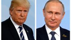 FILE PHOTO - A combination of two photos shows U.S. President Trump and Russian President Putin at the G20 leaders summit in Hamburg