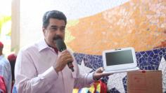Venezuela's President Nicolas Maduro speaks during an inauguration of a new school in La Guaira