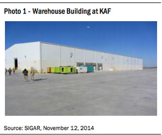 Warehouse building at KAF