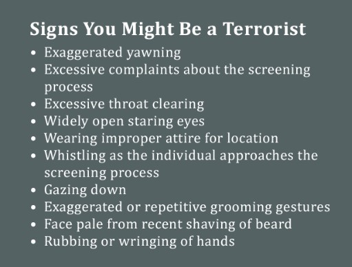 Signs You Might Be a Terrorist
