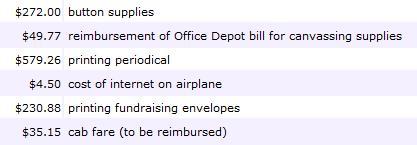 Sanders Expenses